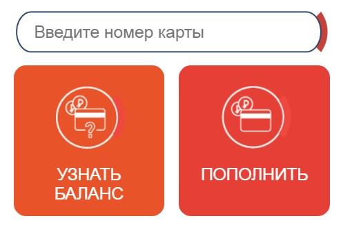Форма проверки баланса на официальном сайт strelkacard.ru